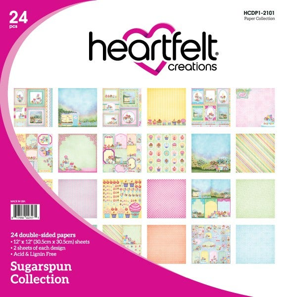 "Heartfelt Creations Double-Sided Paper Pad 12""X12"" 24/Pkg, Sugarspun Collection"