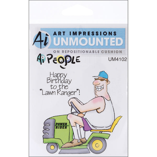 "Art Impressions, People Cling Rubber Stamps 6""X4"", The Lawn Ranger Set - Scrapbooking Fairies"