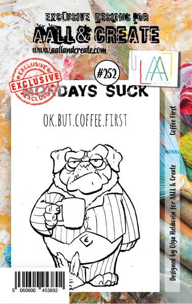 AALL & Create, Coffee First, A7 Clear Stamp, #252