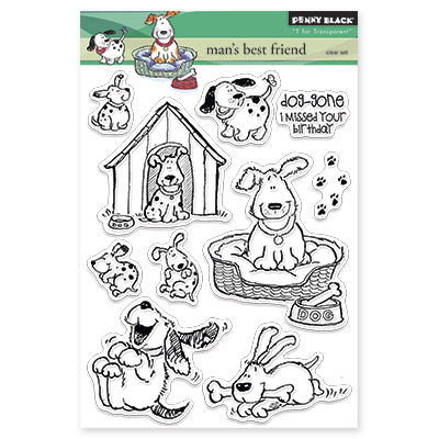 Penny Black, Clear Stamp, Man's Best Friend