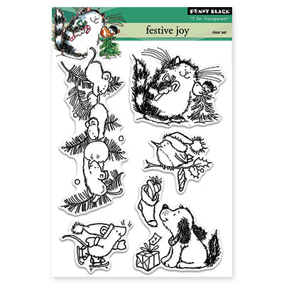 "Penny Black Clear Stamps 5""X7"", Jolly Critters"
