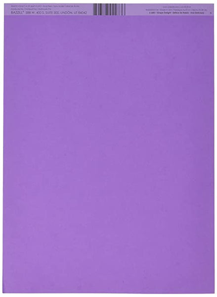 "Bazzill Smoothies Cardstock 8.5""X11"", Grape Delight"