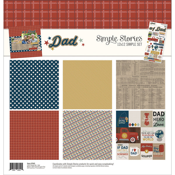 "Simple Stories Simple Sets Collection Kit 12""X12"" - Father's Day"