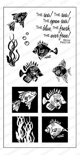 Impression Obsession, Cling Stamps, Funky Fish