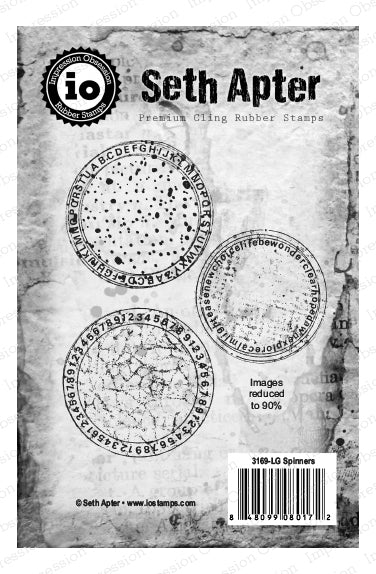 Impression Obsession, Seth Apter, Premium Cling Rubber Stamps, Spinners