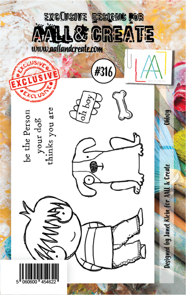 AALL & Create, #316, Ohboy, Clear Stamps, Designed by Janet Klein