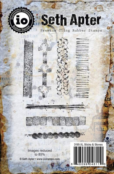 Impression Obsession, Seth Apter, Premium Cling Rubber Stamps, Sticks & Stones