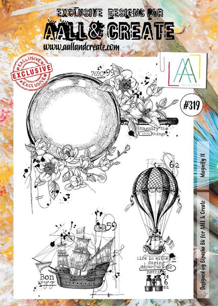 AALL & Create, MAGNIFY IT A4 Clear Stamp Set, #319