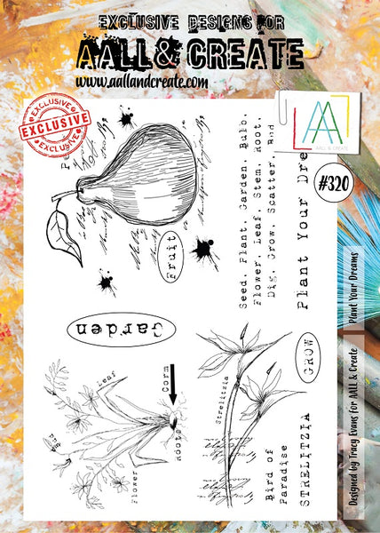 AALL & Create, Plant Your Dreams, A4 Clear Stamp Set, #320