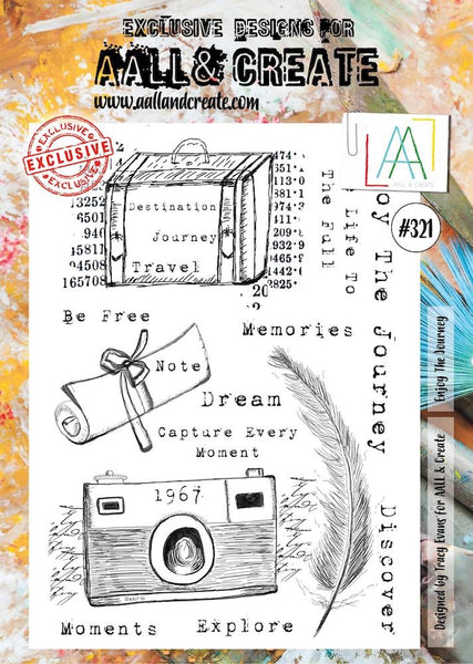 AALL & Create, Enjoy the Journey, A4 Clear Stamp Set, #321