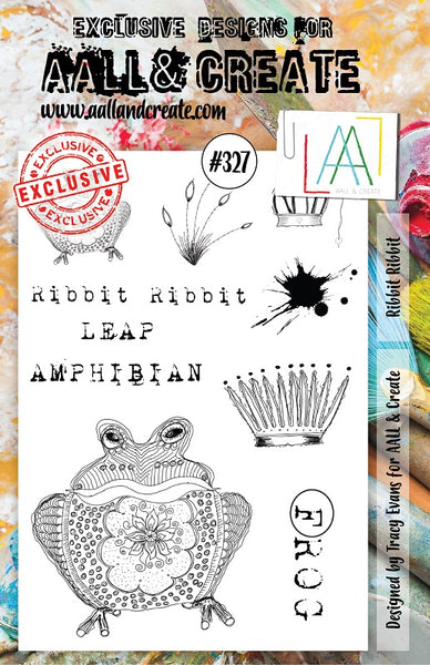 AALL & Create, Ribbit Ribbit, A5 Clear Stamp Set, #327