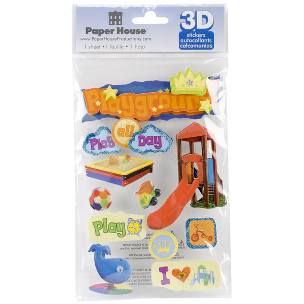"Paper House 3D Stickers 4.5""x8.5"", Playground 3-D - Scrapbooking Fairies"