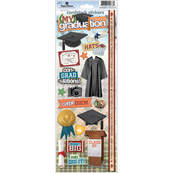 "Paper House, Cardstock Stickers 4.625""X13"", My Graduation - Scrapbooking Fairies"