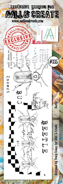 AALL & Create, Border Clear Stamp Set, Beetle #335