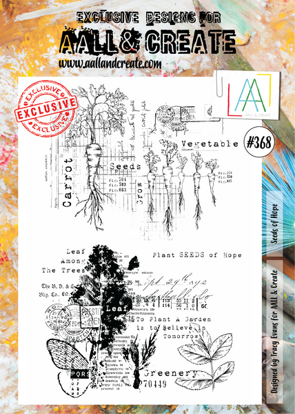 AALL & Create, #368, Seeds of Hope, Clear Stamps, Designed by Tracy Evans