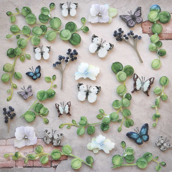 "49 & Market, Layered Plastic Embellishments 12""X12"", Butterfly Harvest"