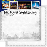 "12""x12"" Double-Sided Las Vegas City Sights, Cardstock"