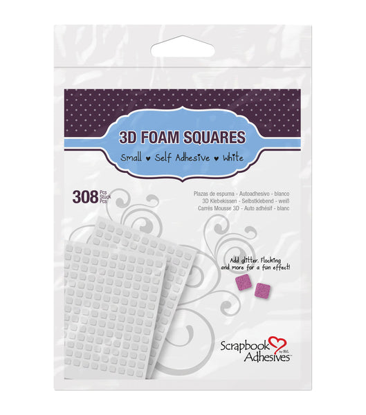 3L Adhesive, 3D Foam Squares, White Small Box, 308 pcs. - Scrapbooking Fairies