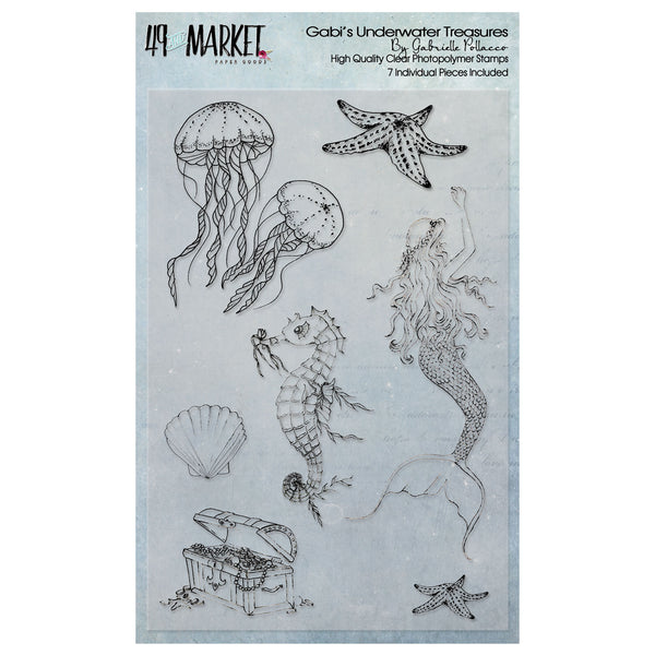 "49 And Market Clear Stamps 4""X6"", Gabi's Underwater Adventures"