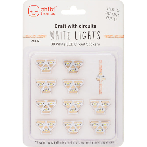 Chibitronics White LED Light Mega Pack