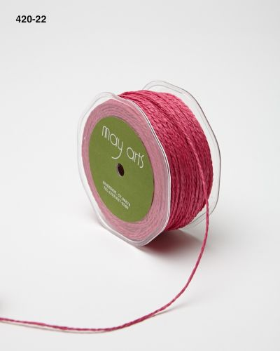 Jute Trim, Berry (Sold by the Yard)