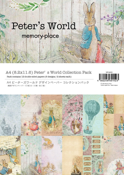 "A4, 8.2""x11.6"" Double-Sided Peter's World Collection Pack"