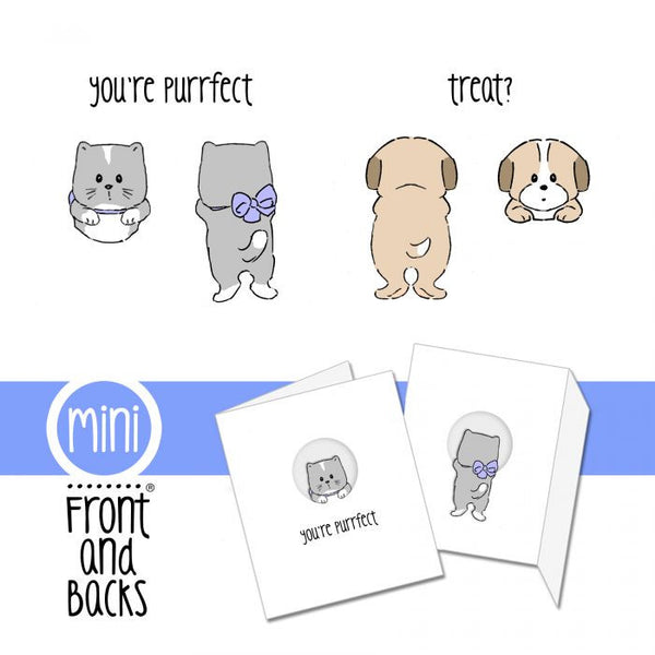 Cat & Dog Mini Cling Stamp Set - Scrapbooking Fairies