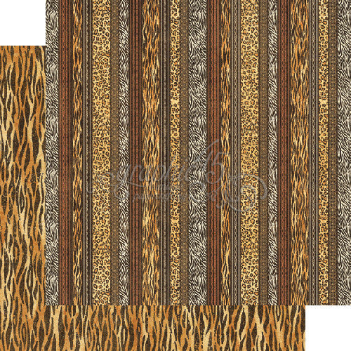 "Graphic 45, Safari Adventure Collection,  Double-Sided Cardstock 12""X12"", Exotic Patterns"