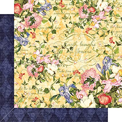 "Graphic 45, Floral Shoppe Double-Sided Cardstock 12""X12"", Sunlit Medley"