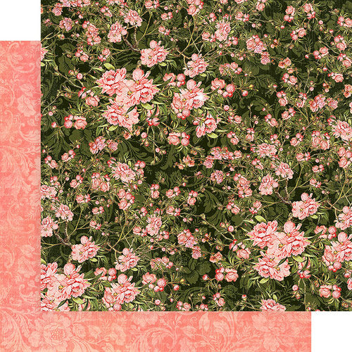 "Graphic 45, Floral Shoppe Double-Sided Cardstock 12""X12"", Verdant Blossoms"