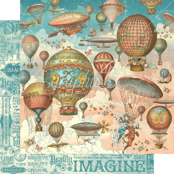 "Graphic 45, Imagine Double-Sided Cardstock 12""X12"", Up & Away"