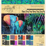 Graphic 45, Vol 7, Kaleidoscope Gift Bag & Staggered Tag Album