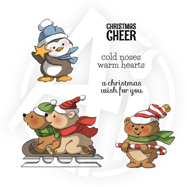 "Art Impressions, Christmas Cling Rubber Stamp Set 8""X4"" , Christmas Cheer - Scrapbooking Fairies"
