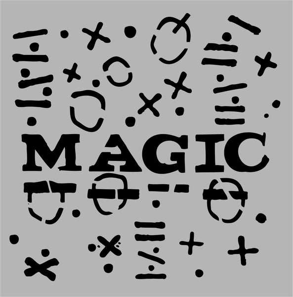 Aladine Stencil, Magic, Designed by Seth Apter