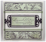 Impression Obsession,  Cover-a-Card, Flourishes Background, Rubber Stamp