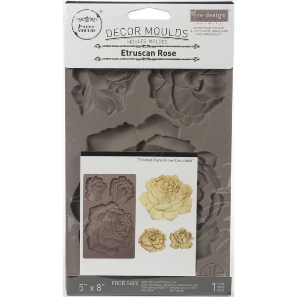 "Prima Marketing Re-Design Mould 5""X8""X8mm, Etruscan Rose"