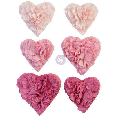 Prima Marketing Mulberry Paper Flowers, With Love - All The Hearts