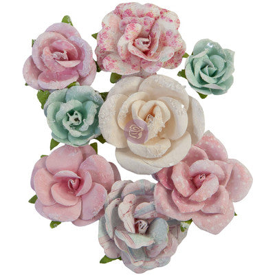 Prima Marketing Mulberry Paper Flowers, With Love - All My Hearts