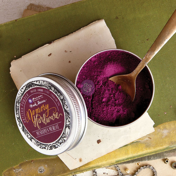 Prima Marketing Memory Hardware Artisan Powder 1oz, Mesdames Merlot
