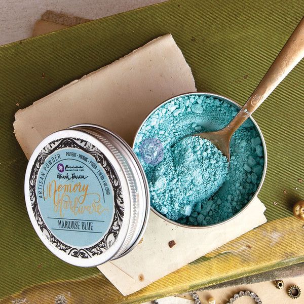 Prima Marketing Memory Hardware Artisan Powder 1oz, Marquise Blue