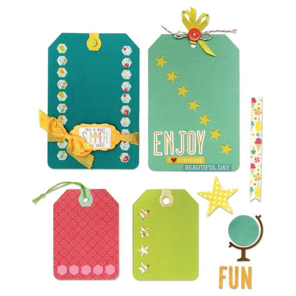 Sizzix, Thinlits Dies 11/Pkg by Lori Whitlock , Happy Day