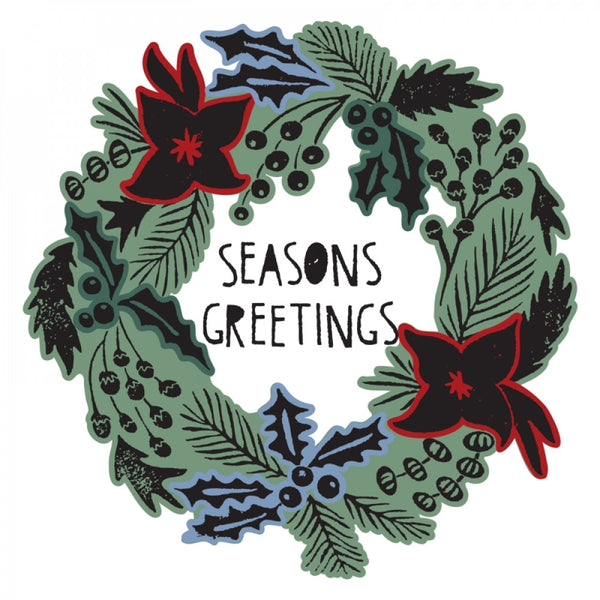 Sizzix Framelits Die & Stamp Set By Tim Holtz, Seasons Greetings