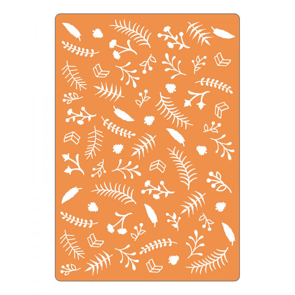 Sizzix, Textured Impressions Embossing Folder - Botanical (Retired)