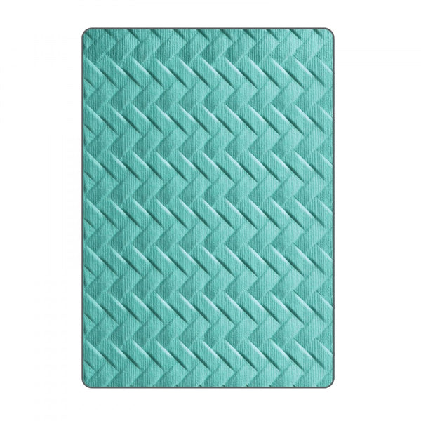 Sizzix 3D Textured Impressions Embossing Folder by Lynda Kanase, Woven
