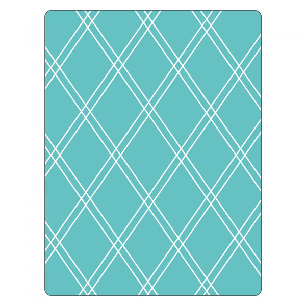 Sizzix, Textured Impressions Embossing Folder by Rachael Bright - Argyle #2 (Retired)