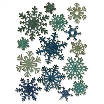 Sizzix Thinlits Dies By Tim Holtz 14/Pkg, Mini Paper Snowflakes