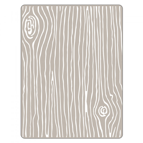 Sizzix Textured Impressions Embossing Folder by Lori Whitlock - Woodgrain #4 (Retired)