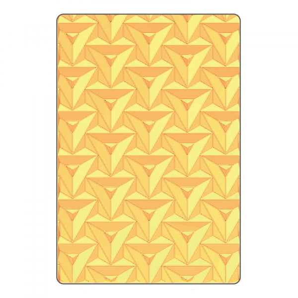 Sizzix 3-D Textured Impressions Embossing Folder by Courtney Chilson - Prism Geometrics