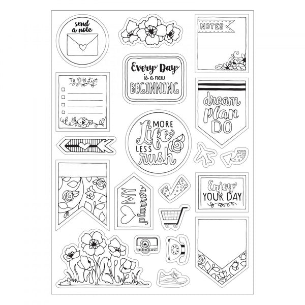 Sizzix Coloring Stickers - Color Your Planner