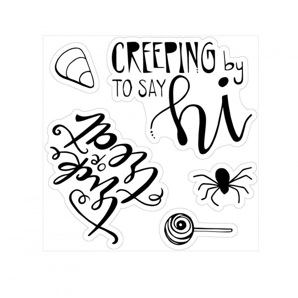 Sizzix - Lindsey Serata, Framelits Die Set 7PK w/Stamps - Trick or Treat